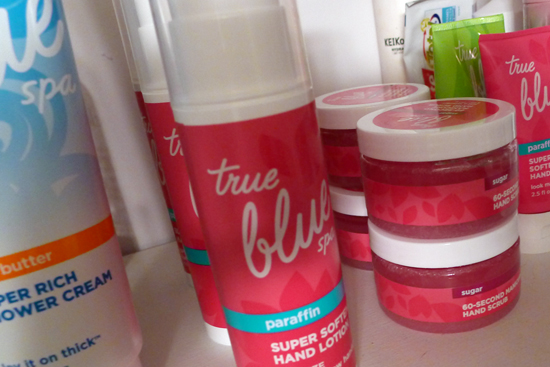 My Supply of True Blue Spa 60 Second Manicure Hand Scrub and super Softening Paraffin Lotion