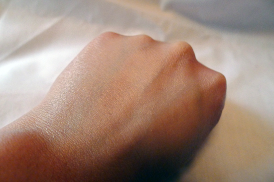 This is my hand with VIP Gold BB Cream.