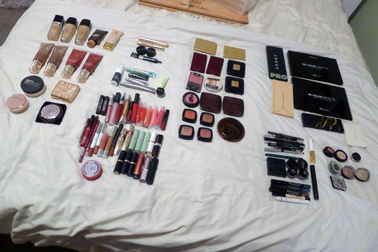 My Makeup Collection Organized