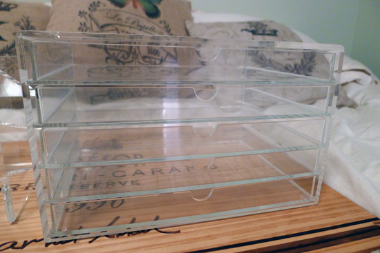 Muji Acrylic 5 Drawer Case Makeup Storage