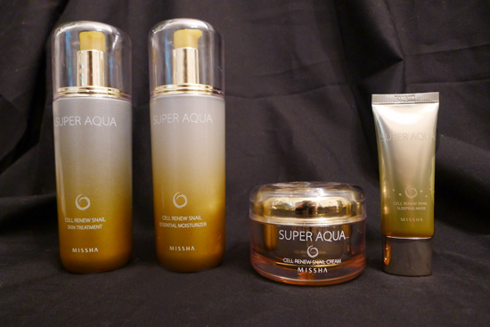 Missha Super Aqua Cell Renew Snail Skin Treatment and Essential Moisturizer