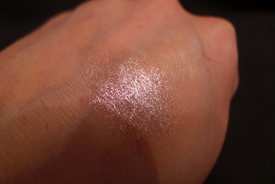 May Ipsy Glam Bag 2013 - Urband Decay Moondust Eyeshadow in Glitter Rock Swatch