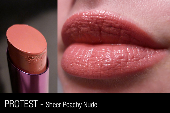 Urban Decay Revolution Lipstick - Protest Swatch