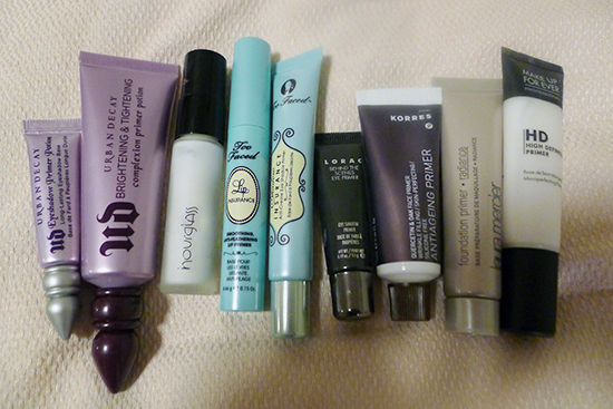 Urban Decay, Hourglass, TooFaced, Lorac, Korres, Laura Mercier, Make Up For Ever
