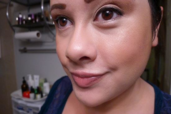 MAC Studio Fix Powder Foundation in NC20 over Missha Complexion Coordinating BB Cream in No.1 Pure Complexion as a base.