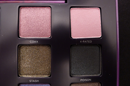 Urban Decay Vice 2 Palette Swatches Coax, X Rated, Stash, Poison