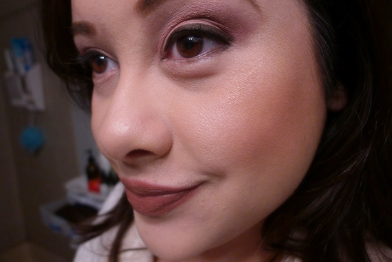 I'm wearing #02 Dolly Face on the tops of my cheeks for this look.