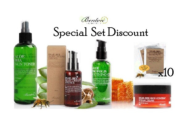 benton-benton-special-set-5-items-toner-essence-cream-soothing-gel-masks-x10