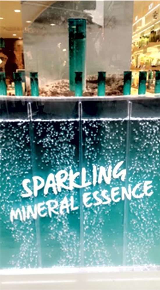Innisfree Sparkling Water Mineral Essence Display