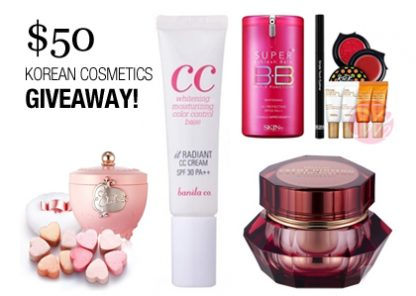 Korean Cosmetics $50 Giveaway - Skin & Tonics - W2Beauty