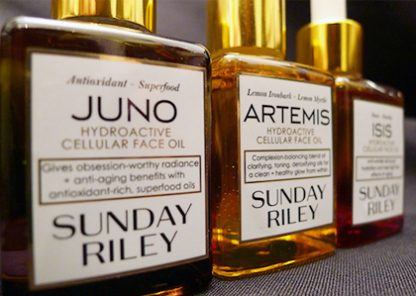 Sunday Riley Hydroactive Cellular Face Oil in Juno, Artemis, and Isis